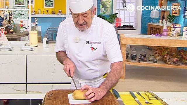 El truco para cortar las patatas Hasselback de karlos Arguiñano