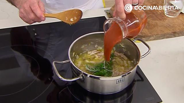 Tallarines con albóndigas de ternera y queso por Karlos Arguiñano - paso 1