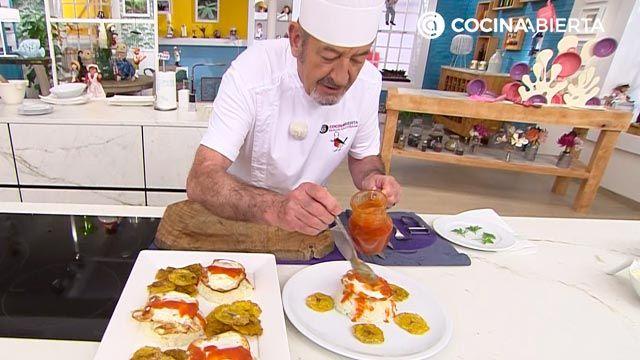 Arroz a la cubana con tostones de plátano, la popular receta por Karlos Arguiñano - paso 5