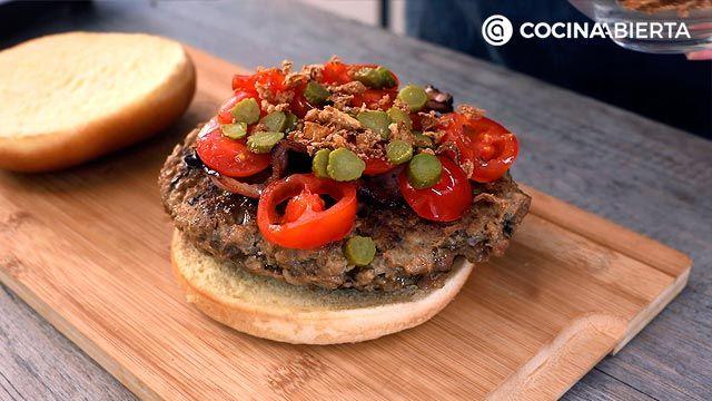Paso 4 de la receta Hamburguesa de carne picada y champiñones