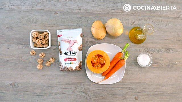 Ingredientes de la receta de Crema de calabaza y zanahoria