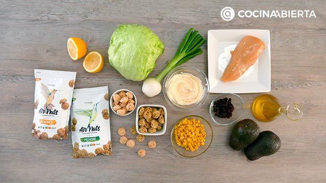 Ingredientes de la receta de Ensalada de pollo con mayonesa de aguacate