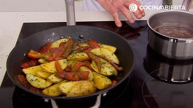 Espaldilla de ternera a la plancha con verduras por Karlos Arguiñano - paso 3