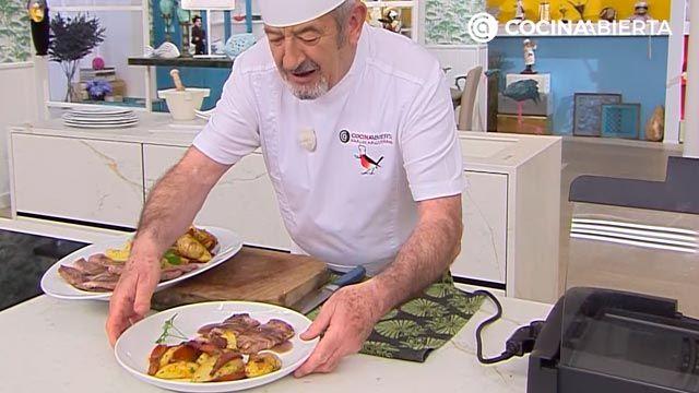 Espaldilla de ternera a la plancha con verduras por Karlos Arguiñano - paso 5