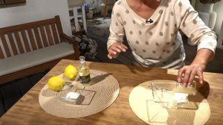 Exfoliante casero para el cuidado de las manos - Limón