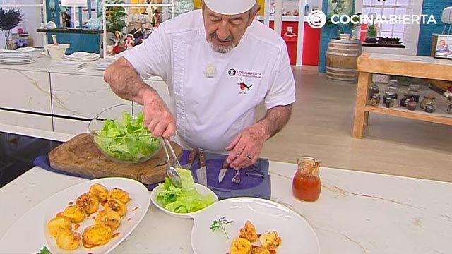 Huevos rellenos de jamón (con bechamel) por Karlos Arguiñano - paso 6