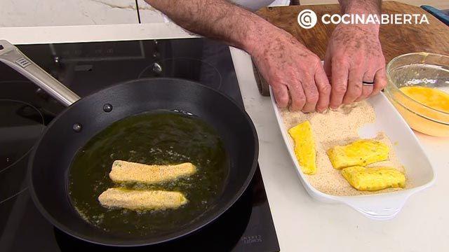 Palitos de merluza caseros (con setas) por Karlos Arguiñano - paso 4