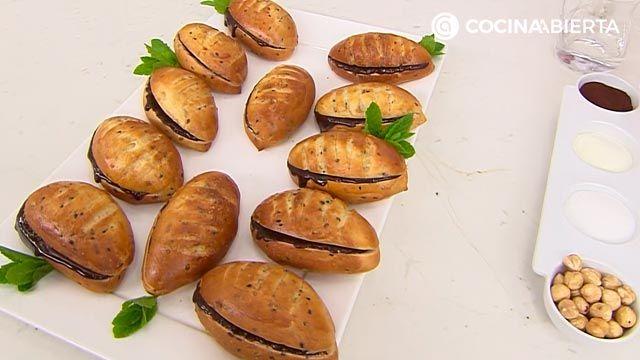 Pan de Viena por Joseba Arguiñano (la versión de panecillos rellenos de crema de cacao y avellanas) - paso 9