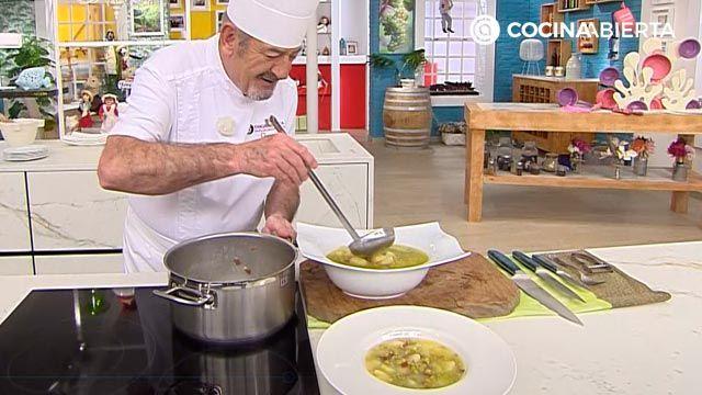 Patatas con guisantes y jamón por Karlos Arguiñano - paso 4
