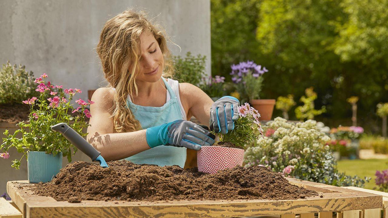 guantes de jardinería de gardena
