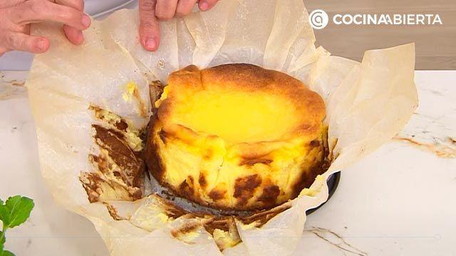 Tarta de queso La Viña, la receta más fácil de Eva Arguiñano - paso 4