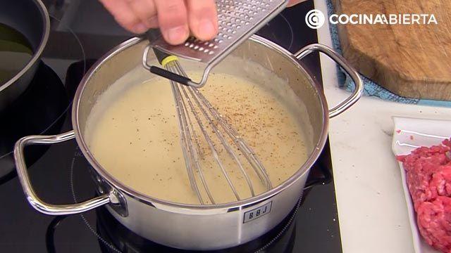 Albóndigas gratinadas al horno con salsa velouté, la deliciosa receta de Karlos Arguiñano - paso 3