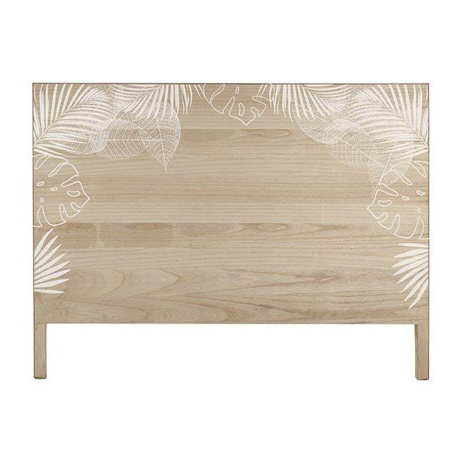 Cabecero de madera con estampado de Costillas de Adán de Maisons Du Monde