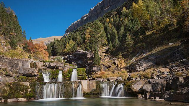 cascada en Parque Nacional de Ordesa