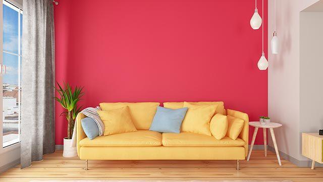Color block en decoración del hogar
