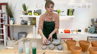 Materiales para hacer cáctus con piedras