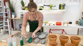 Cómo hacer cactus con piedras - Paso 1