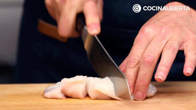Arroz con pescado y marisco (rape y almejas) - paso 1
