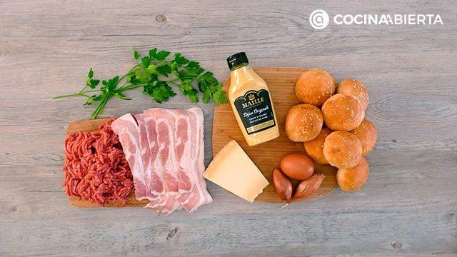 Mini hamburguesas de carne picada y queso - Ingredientes