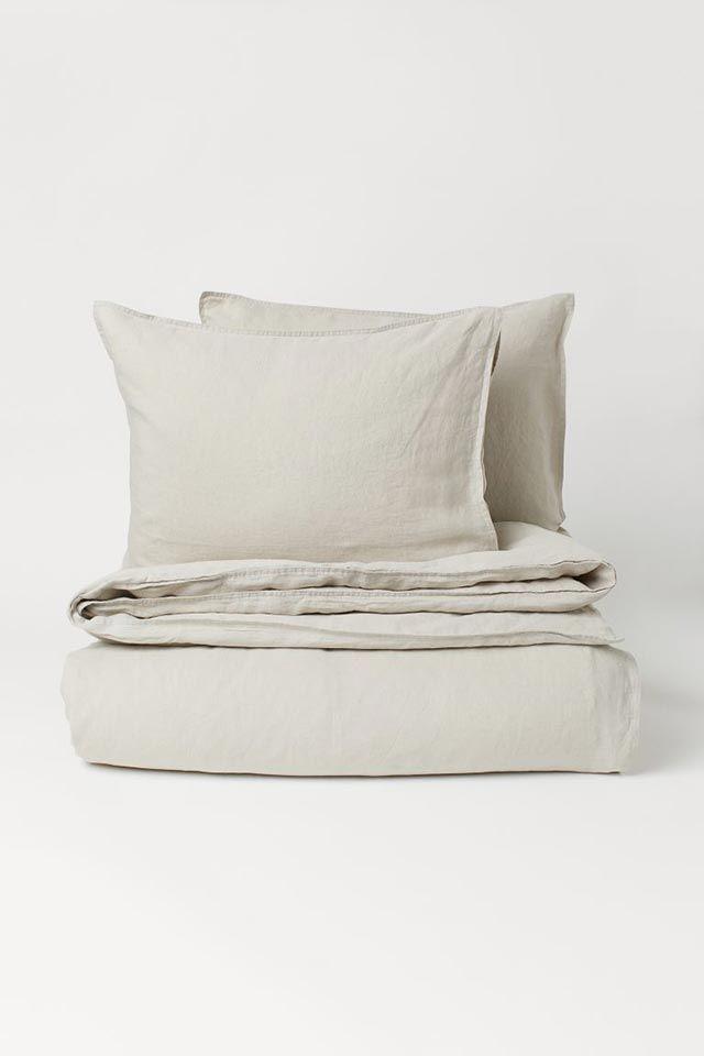 Funda nórdica en lino lavado de H&M Home