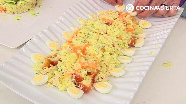 Ensalada de mijo con atún y huevo