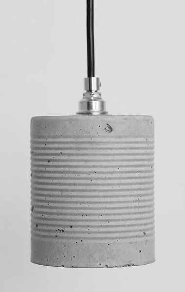 Lampara de cemento DIY con lata metálica