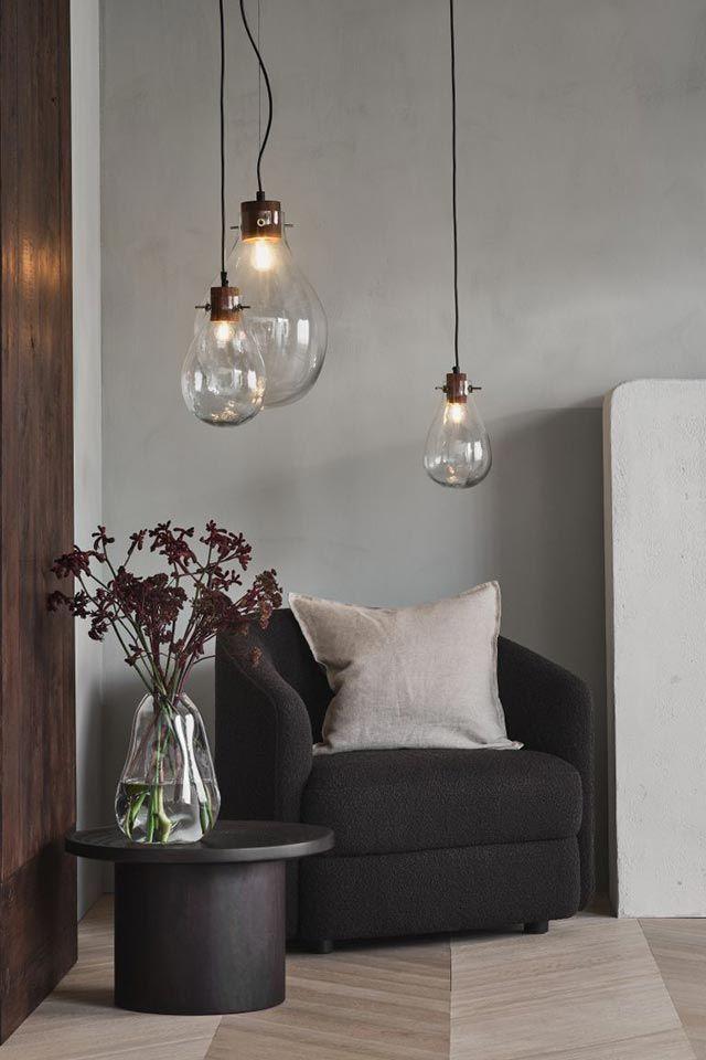 Lámpara de techo de vidrio de H&M Home