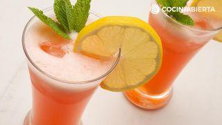 Limonada de fresas y jengibre
