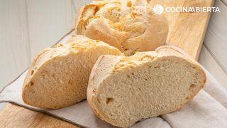 pan de cruz con masa madre rápida