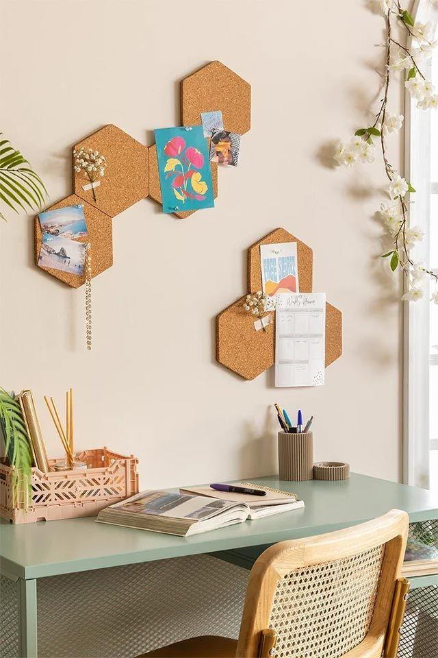 Corchos para adornar el escritorio y renovar el dormitorio