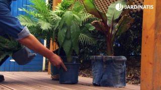 Como forrar una tiesto con tela vaquera - paso 6