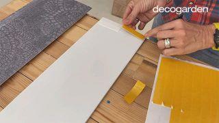 Cómo hacer un cabecero con revestimientos decorativos - Paso 8