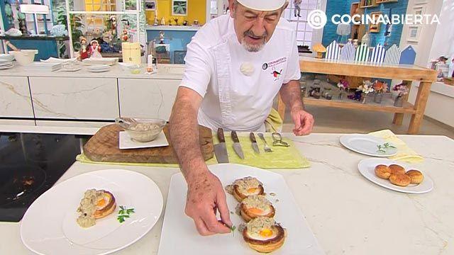 Huevos en hojaldre con crema de champiñones por Karlos Arguiñano: ¡cómo hacer volovanes rellenos al horno! - paso 4