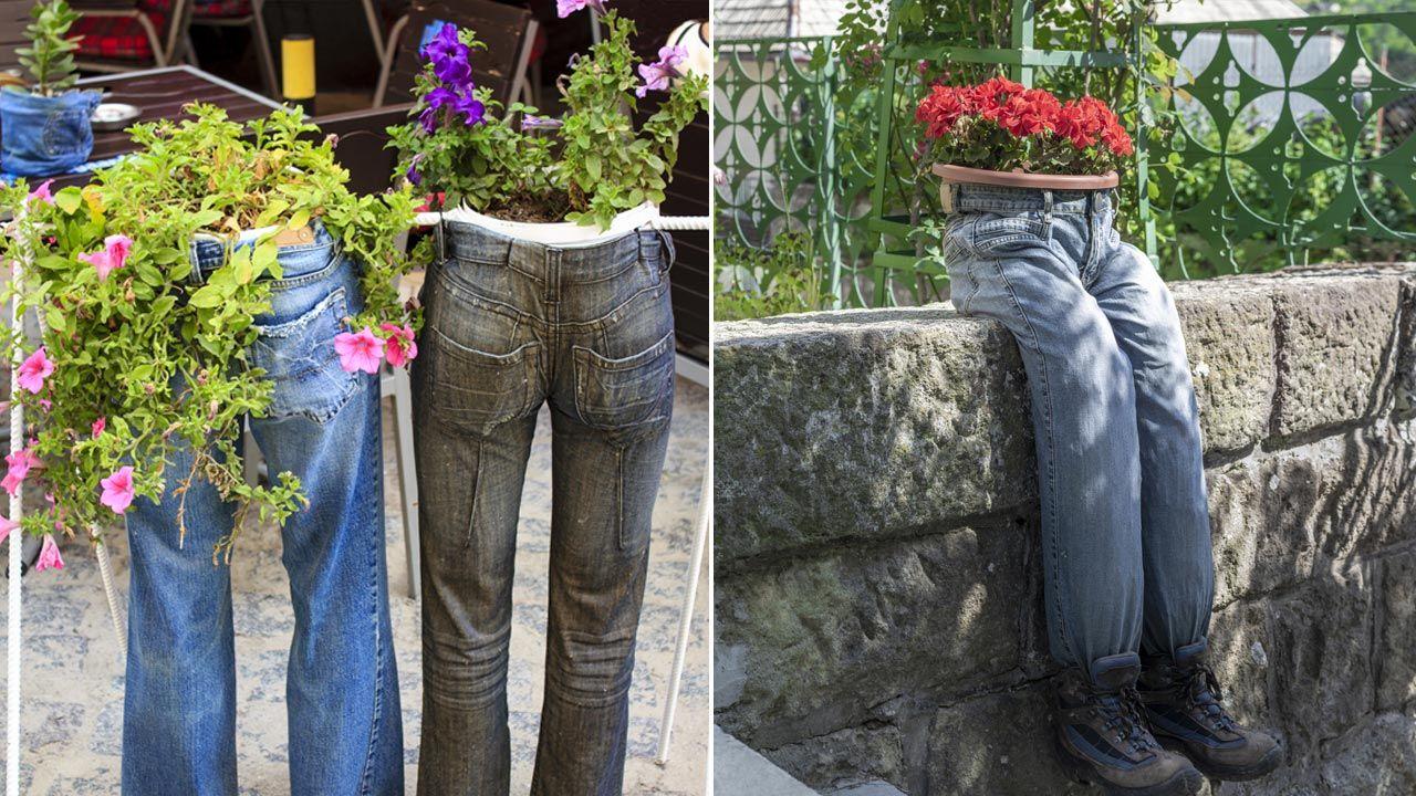 Ideas de jardinería con vaqueros