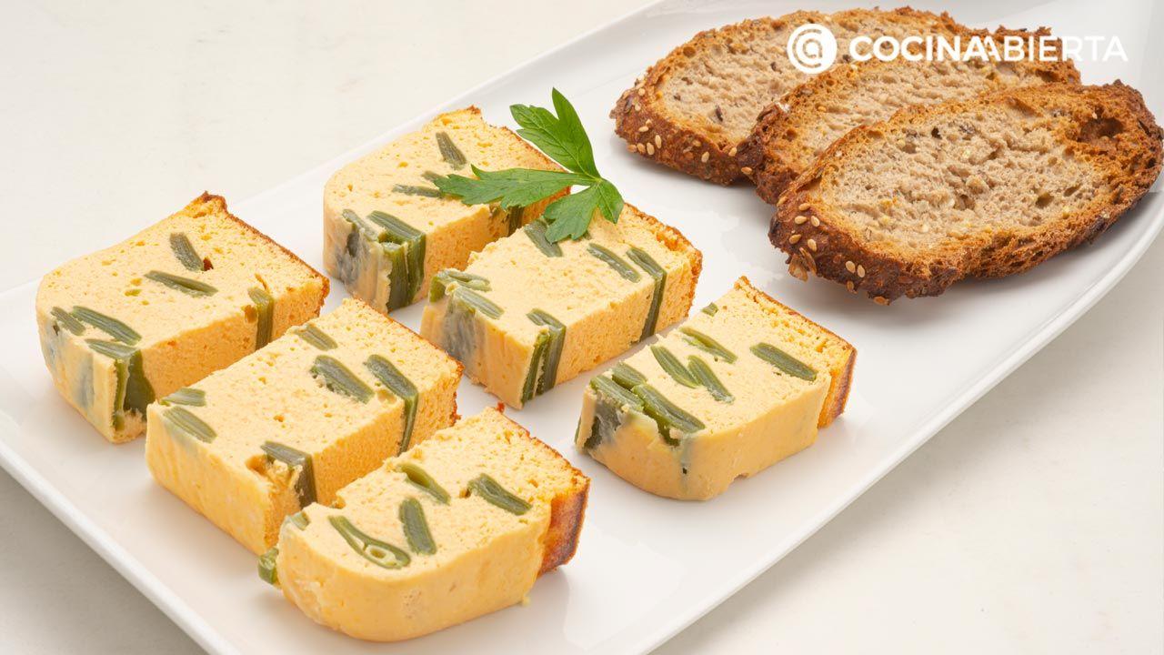 Pastel de judías verdes y salmón