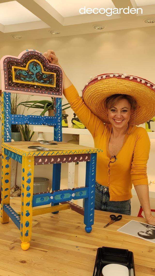 Resultado final de la silla mexicana homenaje a Frida Kahlo