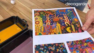 Pintar una silla de madera vieja de estilo mexicano - Paso 4