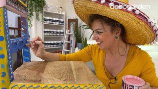 Pintar una silla de madera vieja de estilo mexicano - Paso 7