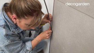 Revestir la pared del baño - Paso 10