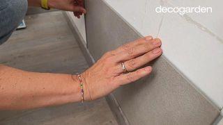 Revestir la pared del baño - Paso 7