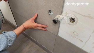 Revestir la pared del baño - Paso 9