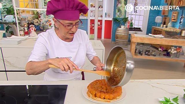 Tarta tatín de albaricoques (con pasta filo), la receta más fácil de Eva Arguiñano - paso 6