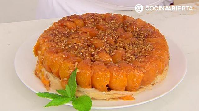 Tarta tatín de albaricoques (con pasta filo), la receta más fácil de Eva Arguiñano - paso 7