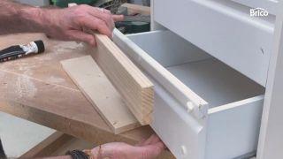 como tunear una cómoda con madera