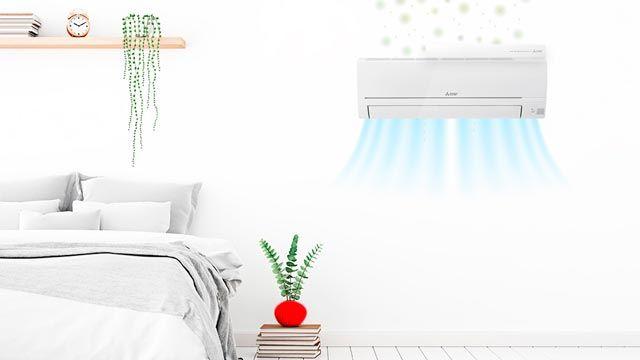 Cómo funciona un aire acondicionado con filtros Mitsubishi