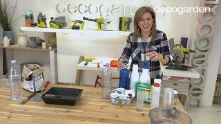 Cómo hacer macetas de cemento - Paso 1