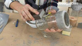 Cómo hacer macetas de cemento - Paso 9