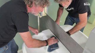 cómo pintar un lavabo paso 4