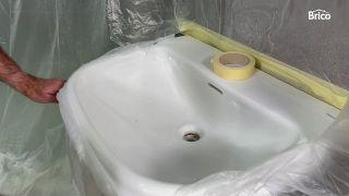 cómo pintar un lavabo paso 6