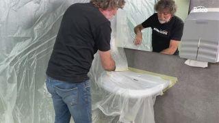 cómo pintar un lavabo paso 9